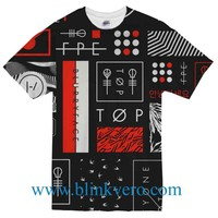 Twenty Øne Piløts Blurryface collage Full Print Awesome T Shirt