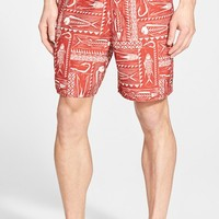 Men's Quiksilver Waterman Collection 'Gone Fishing' Print Swim Trunks