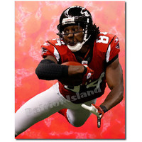 Roddy white Atlanta Falcons Football Player Abstract Portrait Art Print 10x8