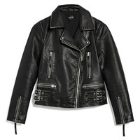 Topshop Ellie Washed Biker Jacket | Nordstrom