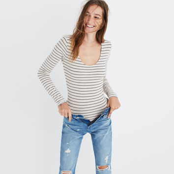 Song Scoop Bodysuit in Pierre Stripe : | Madewell