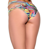 Groovy Aries Goddess Scrunch Back Booty Shorts