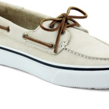 Sperry Top-Sider Bahama Washable 2-Eye Boat Shoe BoneWashableNubuck, Size 9.5M  Men's Shoes