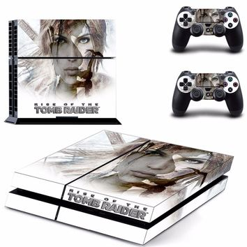 Tomb Raider Vinyl PS4 Skin Sticker for Sony playstation 4 Console and Controller