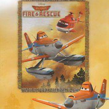 Disney Planes Fire and Rescue 48x60 Woven Tapestry Throw FREE US SHIPPING