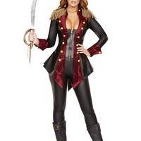 3pc Adventurous Pirate Babe Costume