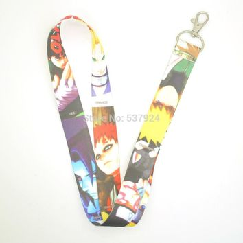 Naruto Sasauke ninja New 10Pcs  Key ID Card Cell Phone Neck Strap Lanyard AT_81_8