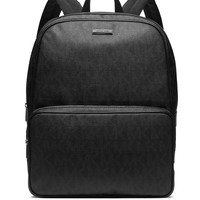 Vinyl Zipper Backpack, Black
