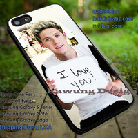 One Direction Niall Horan I Love You Sign iPhone 6s 6 6s+ 5c 5s Cases Samsung Galaxy s5 s6 Edge+ NOTE 5 4 3 #music #1d dt