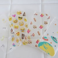 Wholesale lot bundle kawaii cat emoji pizza space ship iPhone 7 6s case cases