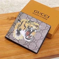 GUCCI Women Fashion Leather Buckle Wallet