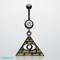Illuminati The All Seeing Eye Belly Button Ring
