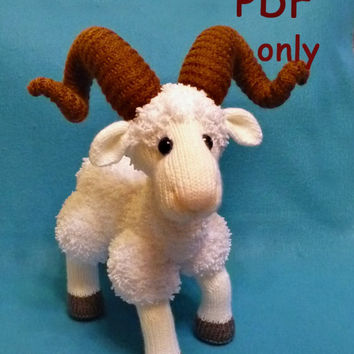 Mountain Goat,knitting amigurumi,PDF pattern