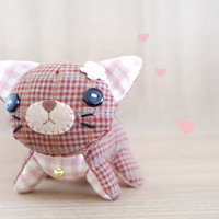 Cute Cat Plush - soft 3 dimensional animal - READY TO SHIP