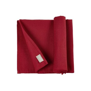 Polylin Napkins by Libeco | Red-Set of 6