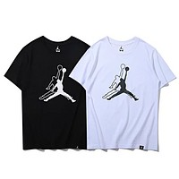 NIKE Air JORDAN New fashion bust pattern print couple top t-shirt