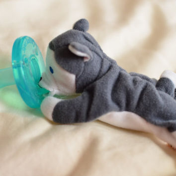 BinkyFriend Husky  (Soothie Pacifier Animal or Binky Leash)