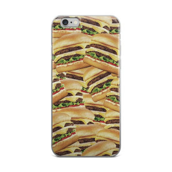 Pile of Cheeseburgers iPhone case