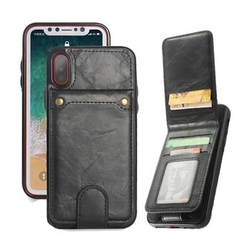 2018 New arrival Classic Retro Vertical Flip Wallet Card Cell Phone Case for Iphone 6 6s 7 8 6plus 7plus 8plus Galaxy S8 S8plus