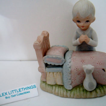 "Lefton The Christopher Collection ""Now I Lay Me Down To Sleep"" figurine 1983"