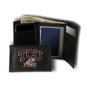 Texas Christian Horned Frogs NCAA Embroidered Trifold Wallet