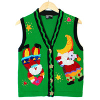 Berek Jester Santas Tacky Ugly Christmas Vest