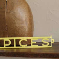 Vintage SPICES Plastic Rack Lusto Ware, Yellow
