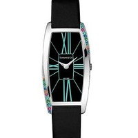Tiffany & Co. -  Tiffany Gemea® watch in stainless steel with gemstones, quartz movement.