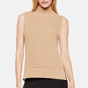Women's Vince Camuto Bubble Stitch Mock Neck Sweater,