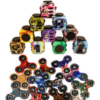 2017 New EDC fidget cube Toy ABS Hand Spinner Finger Tip Rotation anxiety HandSpinner with retail box