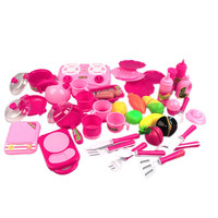 40pcs set Kitchen Toys Pink Kitchen Food Cooking Role Play Pretend Toy Girls Baby Child FCI#