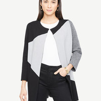 Colorblock Sweater Coat | Ann Taylor