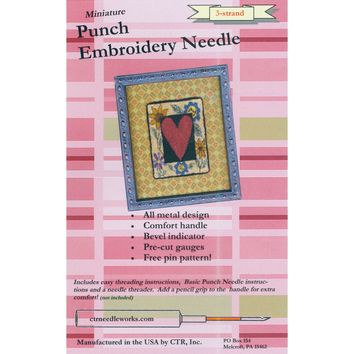 Red 3-Strand CTR Needleworks Miniature Punch Embroidery Needle