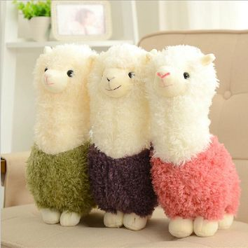 Kawaii Rainbow Alpaca Plush Doll Toys Cute Llama Alpacasso Stuffed Toys Japanese Stuffed Animals Doll Children Kids Gift