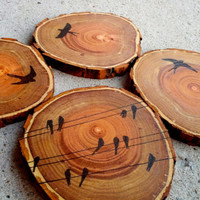 Coasters, Wood Coasters, Rustic Coasters, Rustic Decor