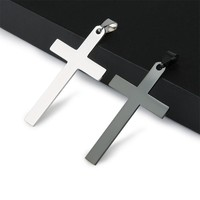 Stainless Steel Cross Pendant Necklaces for Women Men