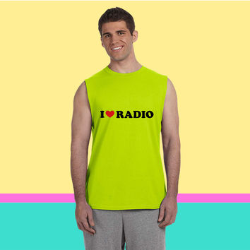 I Love Radio Sleeveless T-shirt