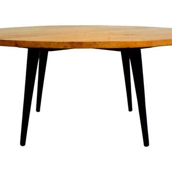 Round Mid-Century Modern Coffee Table