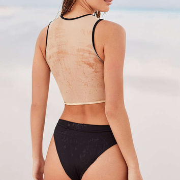 MANDALYNN Kate High-Waisted Bikini Bottom - Urban Outfitters