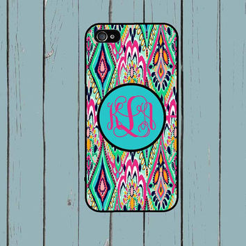 iPhone 6 Case iPhone 6 Plus case iPhone 5S Case Lilly Pulitzer Inspired Monogram iPhone 5 Case iPhone 4 Case iPhone 4S Case iPhone 5C Case