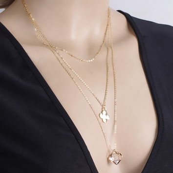 Gift Jewelry New Arrival Shiny Accessory Stylish Club Pendant Lock Necklace [7316487559]