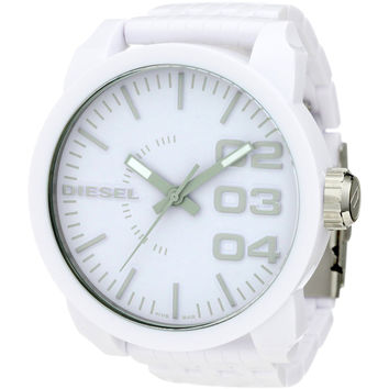 Diesel DZ1461 Men's White Plastic White Dial Quartz Oversized Watch