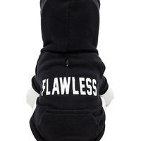 "Private Party ""Flawless"" Dog Hoodie in Black"