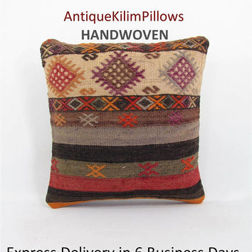 embroidered pillows antique kilim rug pillow home decor decorative pillow bedding pillow bedroom decor pillows 001271