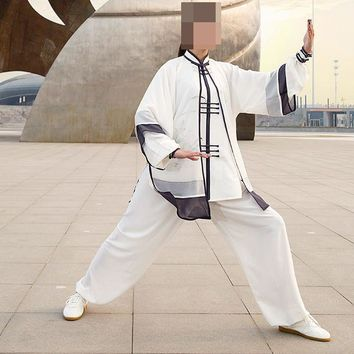 top quality Summer hand-painted kung fu martial arts performance uniforms tai chi suits taiji clothing veil