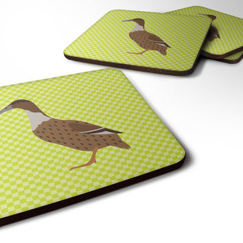 Dutch Hook Bill Duck Green Foam Coaster Set of 4 BB7687FC