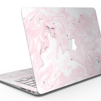 Mixtured Gray and Pink v9 Textured Marble - MacBook Air Skin Kit