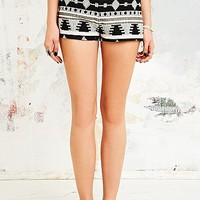 Ecote Sky Jacquard Pin Up Shorts - Urban Outfitters