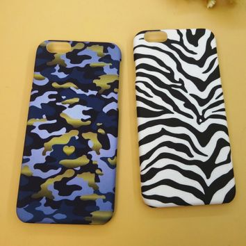 Unique zebra camouflage Solid Case Cover for iPhone 6 6s Plus Gift