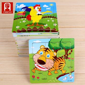 Puzzle  wooden learning education toys  Hobbies for Children Early Learning Wooden child puzzle